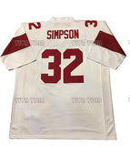 OJ Simpson Retro Throwback Football Jersey Stitched