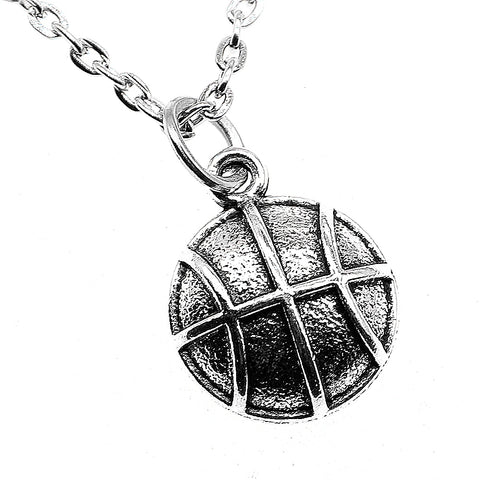 Basketball Necklace Jewelry Vintage Basketball Pendant Necklace Chain 17x13mm