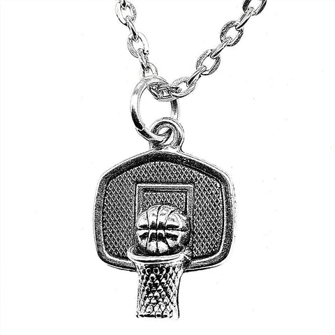 Basketball Pendant Necklace Jewelry Chain 20x15mm