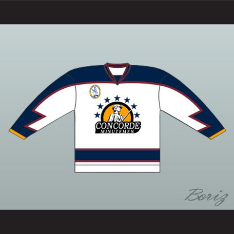 Anson Goon Concorde Minutemen Hockey Jersey with EMHL Patch