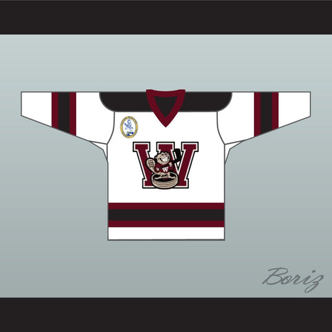 Oldfield 7 Goon Windsor Wheelers Hockey Jersey Includes EMHL Patch f6d497e5b