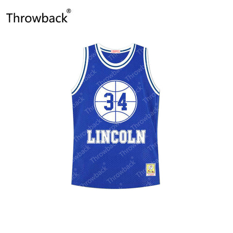 Jesus Shuttlesworth #34 Blue White Lincoln High School He Got Game Alternate Basketball Jersey Stitched