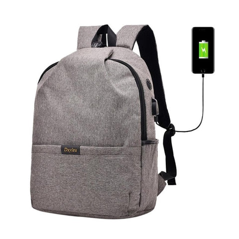 USB Charging Anti Theft Backpack Oxford