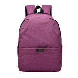 USB Charging Anti Theft Backpack Purple