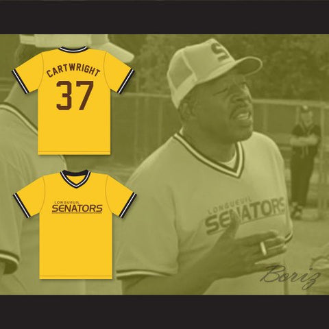 Beer League Longueuil Senators Cartwright  Baseball Jersey Spaceman Stitched