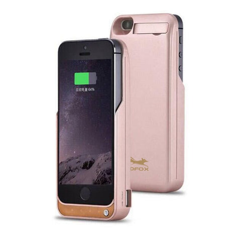 GOLDFOX iPhone 5 5S 5SE Battery Charging Case 4200mAh - Sleek and Slim Design