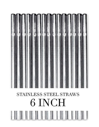 6 inch steel straws (5 Pack)