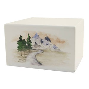 Low Cost Mountain Stream Cremation Urn | Vision Medical