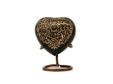 Black Radiance Heart Cremation Urn