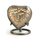 Heart Keepsake Classic Plantinum Engraved Cremation Urns