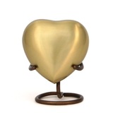 Terrybear Urn Athena Bronze Heart Cremation Urn | Vision Medical