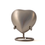Terrybear Athena Pewter Heart Cremation Urn | Vision Medical