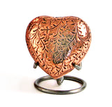 Copper Heart Keepsake Cremation Urn