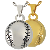 Silver or Gold Baseball Cremation Pendent | Vision Medical