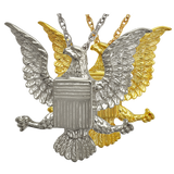 Sterling Silver and Gold Plated Eagle Badge Cremation Pendant | Vision Medical