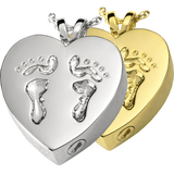 Sterling Silver or Gold Baby Feet Cremation Pendent | Vision Medical