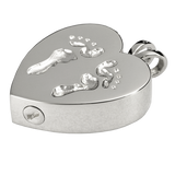Sterling Silver Baby Feet Cremation Pendent | Vision Medical