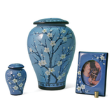 Plum Blossom Ceramic Cremation Urns