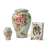 Rose Bouquet Ceramic Cremation Urns