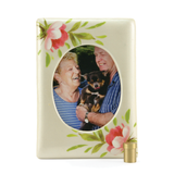 Rose Bouquet Ceramic Photo Frame  Cremation Urns