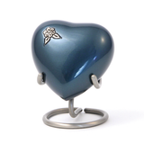 Terrybear urn Artisan Indigo Heart Cremation Urn | Vision Medical