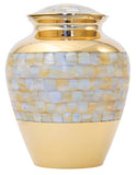 Elite Mother of Pearl Cremation Urn | Vision Medical
