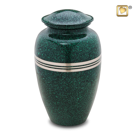 Classic Speckled Emerald Cremation Urn | Vision Medical