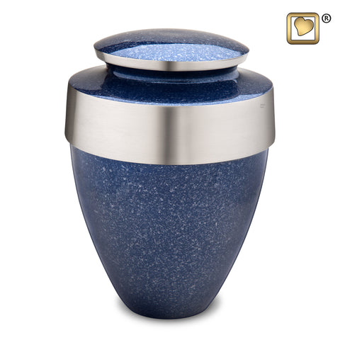 Eternity Speckled Indigo Extra Large Adult Ash Urn from LOVEURNS