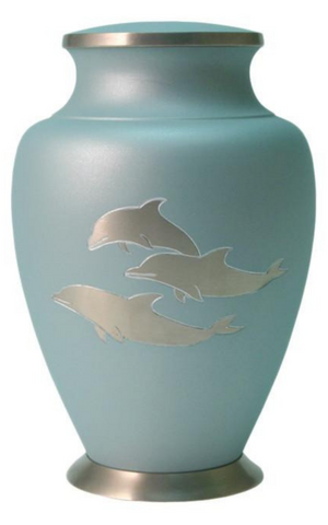 Aria Dolphin Cremation Urn | Nautical Urn | Ocean Urn | Beach Urn | Wholesale | Vision Medical