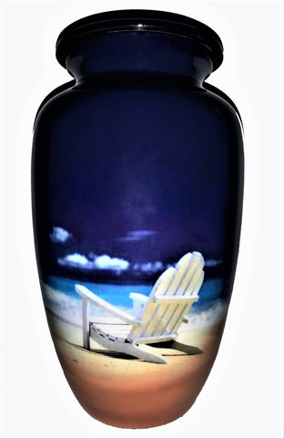 Beach Chair Memories Cremation Urn | Themed Beach and Ocean urn | Beach Urn | Ocean Urn
