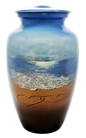 Beach Cremation Urn | Beach Memories Cremation Urn | Themed Beach and Ocean Urn | Beach Urn | Themed Ocean Urn