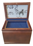 Cremation Urn - Memorial Chest - Etched Bird