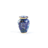 Floral Blue Elite Keepsake Cloisonne Cremation Urn