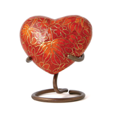 Etienne Autumn Leaves Heart  Cloisonne Cremation Urn