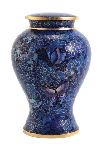 terrybear Etienne Butterfly Cloisonne Cremation Urn | Vision Medical