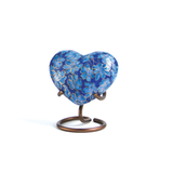 Essence Azure Heart Keepsake  Cloisonne Cremation Urn