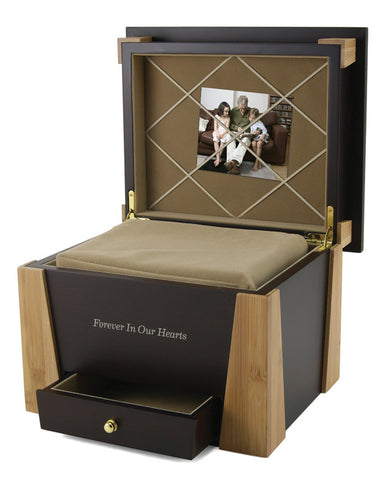 Medium Density Fiberboard Birch Photo Urn | Vision Medical