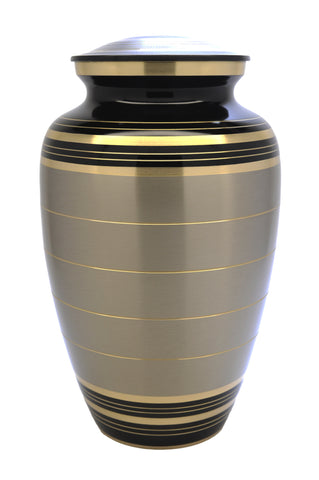 Classic Pewter Slate Cremation Urn | Majestic brass cremation urn | Vision Medical