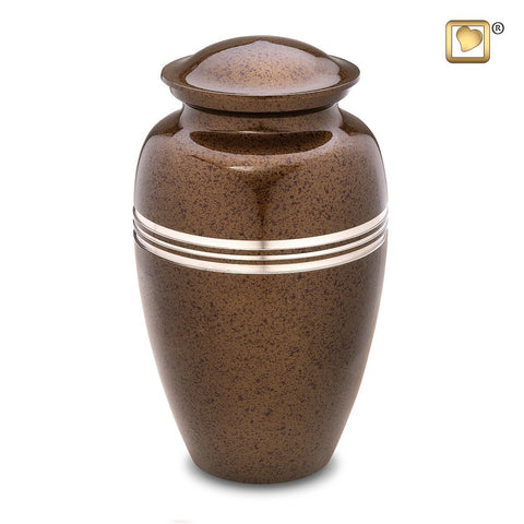 Classic Speckled Auburn Cremation Urn