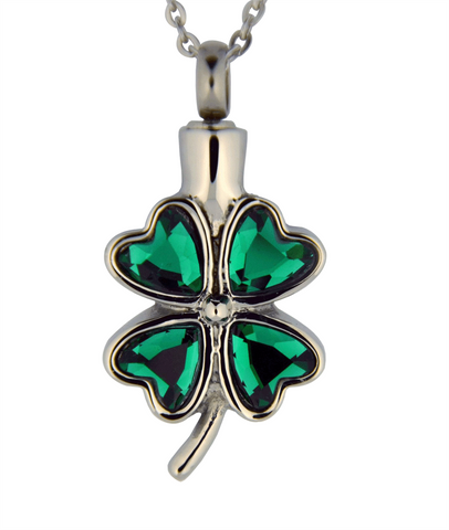 Stainless Steel Shamrock Cremation Pendant