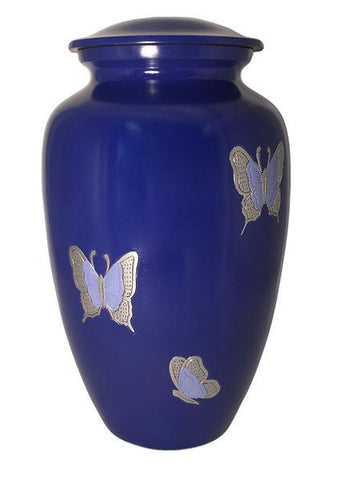 Violet Butterflies Cremation Urn | Vision Medical