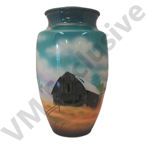 The Old Homestead Hand Painted Cremation Urn