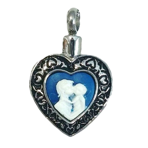 Stainless Steel Mother & Child Cremation Pendant