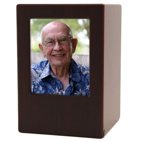 Medium Density Fiberboard Cherry Photo Urn