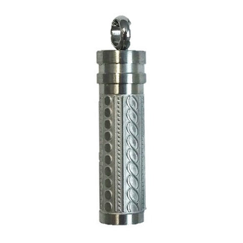 Stainless Steel Fancy Cylinder Cremation Pendant