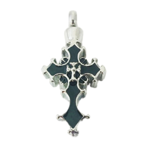 Stainless Steel Fancy Cross Cremation Pendant