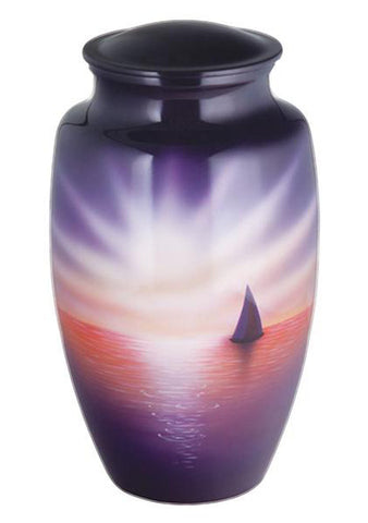 Sunset Sail Hand Painted Cremation Urn | Vision Medical