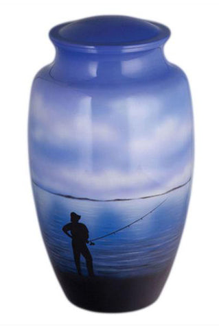 Fisherman Dreams Hand Painted Cremation Urn | Vision Medical