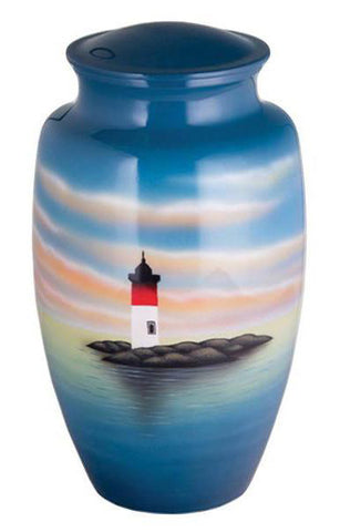 Lighthouse Beacon Hand Painted Cremation Urn | Vision Medical