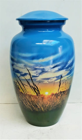 "Cremation Urn | ""Farmer's Sunrise"" 